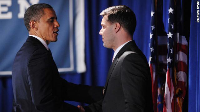 Obama reafirma su respaldo al matrimonio gay en un evento con Ricky Martin