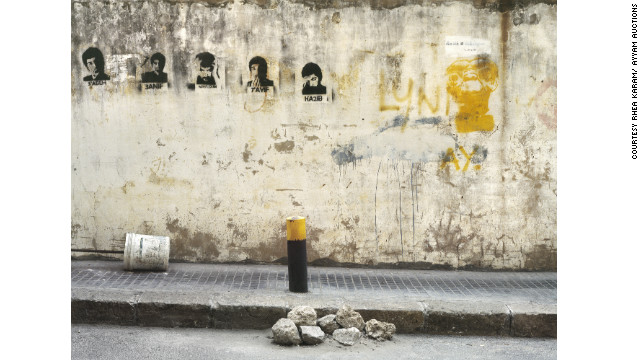 "This picture, ""Rockheads,"" is one of a series of photographs taken in Lebanon, called ""Breathing Walls."" Artist Rhea Karam was born in Beirut, grew up in France and now works in New York."