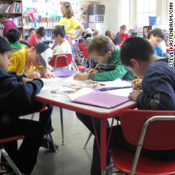 Fifth graders at P.S. 146 in Brooklyn, N.Y. took statewide tests in English and math on May 16, 2012. Their test scores will be used to rate their teacher's performance.
