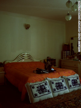 """The Orange Room"" is from Lamya Gargash's ""Presence Series."" Her photographs document the forgotten public and private spaces of her native Emirati society."