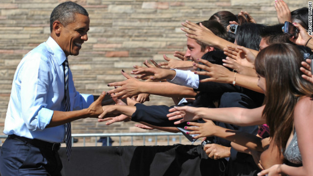 Despite a struggling economy, President Barack Obama still has strong likeability numbers among voters.