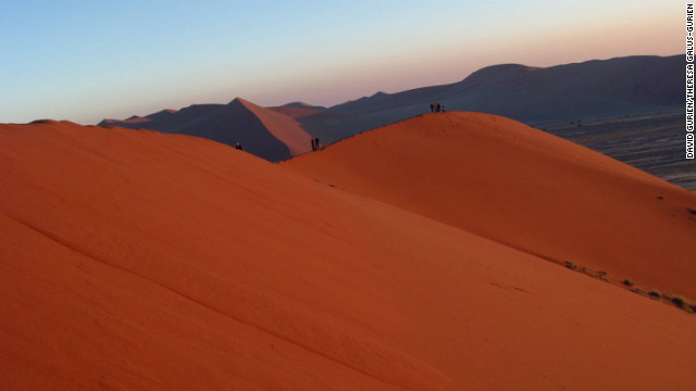 The dunes at Sossusvlei in Namibia are said to be the world's tallest.