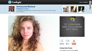 AnnaLynne McCord posted this photo of herself, makeup free, on Twitter.