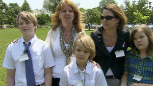 The Marriott/Elliot family visited Capitol Hill from Austin, Texas, as part of the lobbying effort.