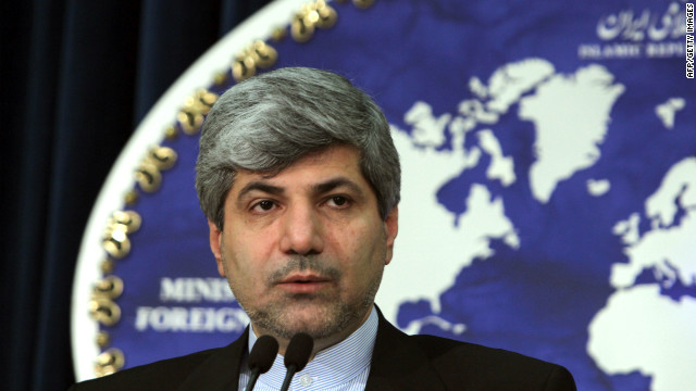 Iranian Foreign Ministry spokesman Ramin Mehmanparast, shown in a file photo, says Google has been 