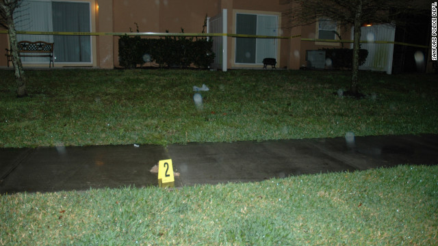 Evidence marker 2 shows a plastic sack found at the crime scene.