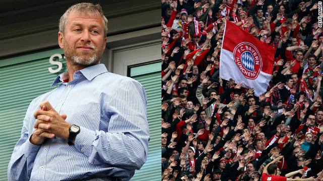 Russian billionaire Abramovich has owned 100% of Chelsea since buying the club in 2003. Bayern, on the other hand, is 82% owned by fans -- most German clubs are governed by the &quot;50+1&quot; rule to protect them from aggressive takeovers.