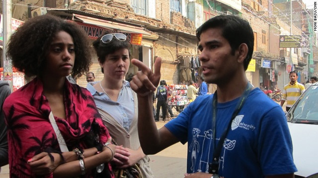 Iqbal, a former street kid who now works as a guide, explains facets of life in Paharganj, a poor neighborhood in New Delhi.