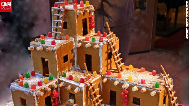 The festive atmosphere is carefully replicated in gingerbread.