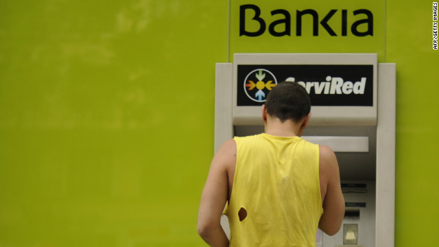 Spain's deputy economy minister denied rumors of a run on the Spanish bank Bankia.