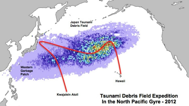 On its second leg from Tokyo to Maui, the AMRF/5 Gyres expedition expects to encounter debris from the Japanese tsunami.