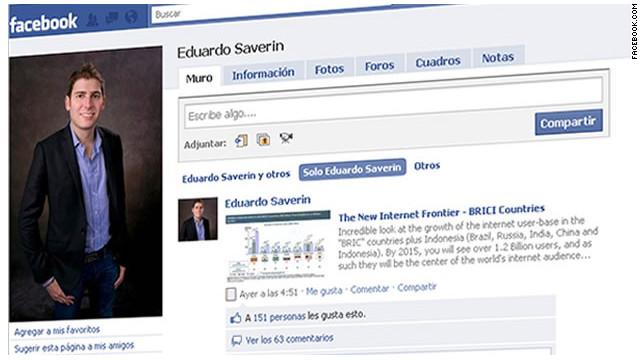 Cofundador de Facebook Eduardo Saverin explica su renuncia a la ciudadanía de EE.UU.