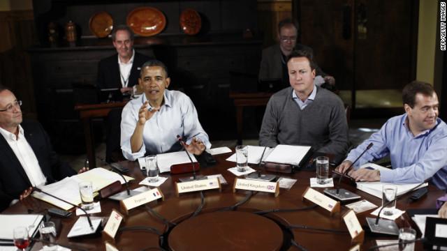 Grecia y la crisis de la eurozona centran el debate de los líderes del G8