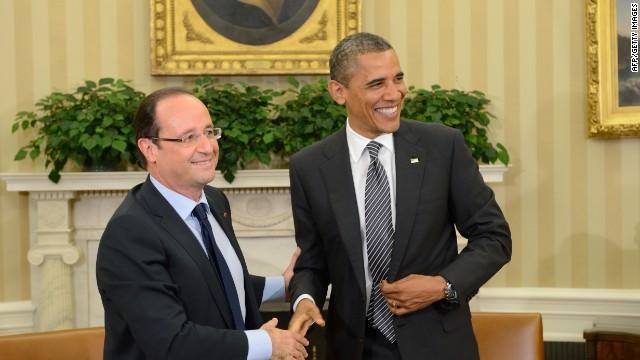 La 'soltería' de Hollande desafía el protocolo de la Casa Blanca