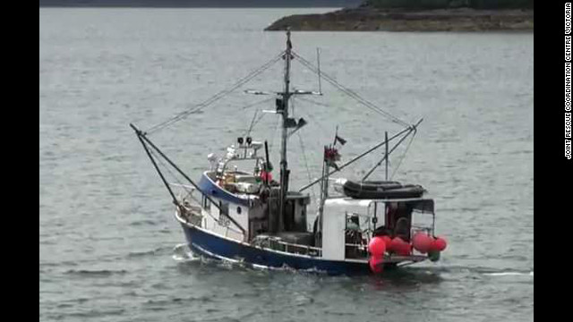 Three Canadian fishermen were rescued after the sinking of their vessel, the Pacific Siren.