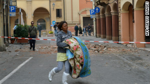 A strong earthquake in northern Italy left seven dead Sunday. 
