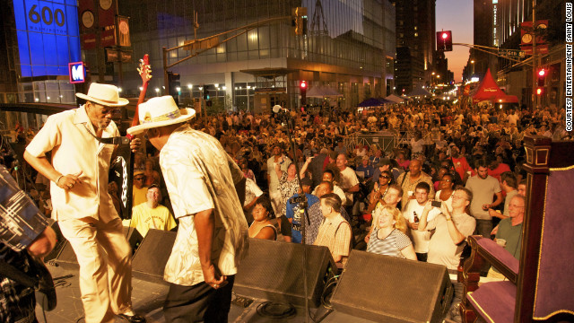 This year, Soldier's Memorial Park in St. Louis will host the Bluesweek Festival, free from Friday to Sunday, with performances by over 50 musicians, including local blues legend Arthur Williams. &lt;a href='http://www.budgettravel.com/slideshow/photos-12-memorial-day-getaways,7260/?cnn=yes' target='_blank'&gt;See more photos at BudgetTravel.com&lt;/a&gt;.