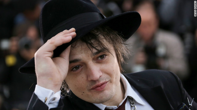 "British musician and actor Pete Doherty poses during the photocall for the French film ""Confession of a Child of the Century."""