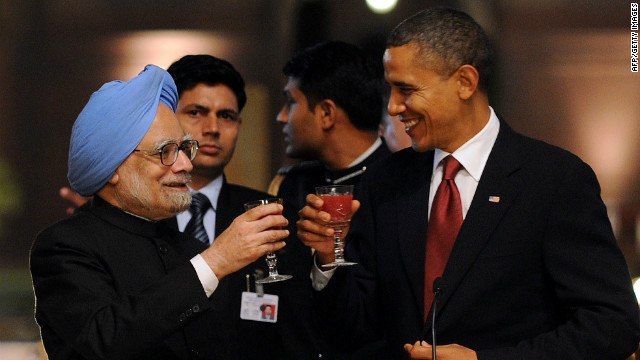 While India-U.S. ties continue to deepen -- Obama (shown with Indian Prime Minister Manmohan Singh in 2010) has supported India's quest for a permanent Security Council seat -- some believe a Republican president is better for India.