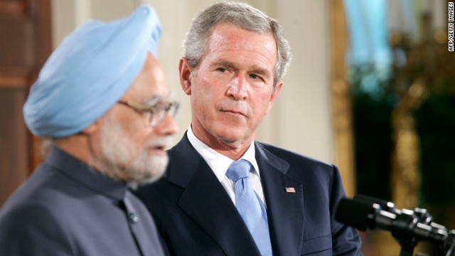 "Manmohan Singh and George W. Bush got along famously -- Bush called Singh ""one of the true gentlemen in the international arena,"" and Singh told Bush ""the people of India deeply love you,"" according to the New York Times."
