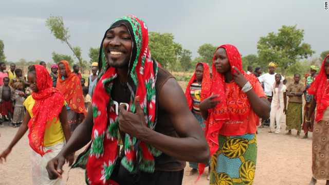 By giving dance therapy to people of all ages in refugee camps, Ahmed believes he's helping them regain self-confidence. 