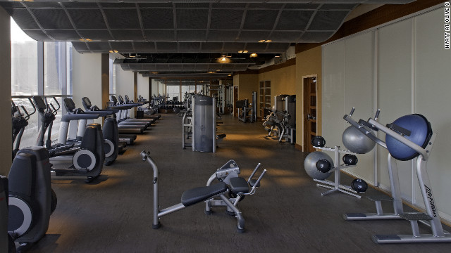 The on-site gym, meanwhile, makes exercising before a long day's work easy, he adds.