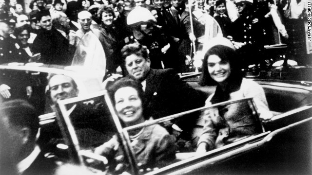 <a href='http://www.cnn.com/SPECIALS/us/jfk-assassination-anniversary'>U.S. President John F. Kennedy was assassinated</a> during a motorcade in Dallas on November 22, 1963.