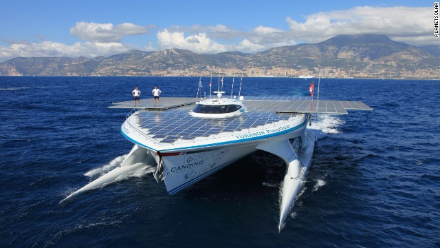The &quot;MS Turanor&quot; is the first solar-powered vessel to complete a full circumnavigation of the globe. 