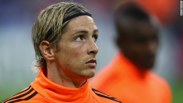 Chelsea striker Fernando Torres cut a forlorn figure after missing out on a place in the starting line-up for the club's European Champions League final clash with Bayern Munich.