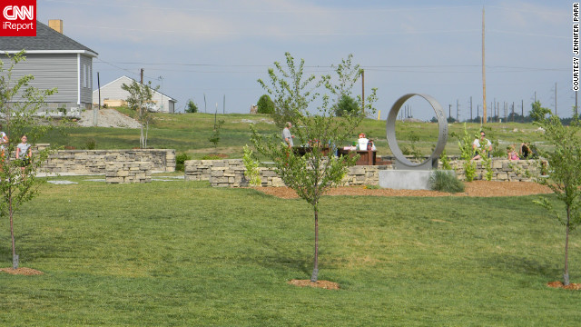"Parr lived two blocks from Cunningham Park. ""To see it the day the tornado hit, completely gone, it was heartbreaking,"" she said. ""It looks really nice and peaceful now."" She said the park's rebirth is a sign that ""even though there was so much loss, we've come a long way, and things will get better."""