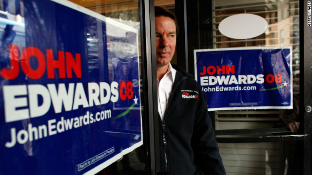 Days before South Carolina's 2008 Democratic primary, Edwards speaks to the press in Bennettsville.