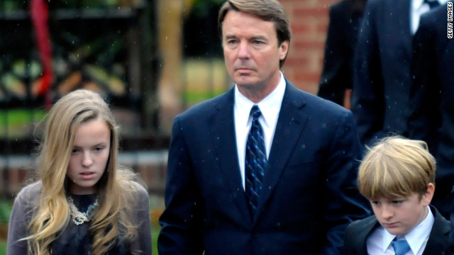 Edwards and two of his children, Emma Claire and Jack, leave the funeral service for Elizabeth Edwards, who died at 61 after a six-year battle with breast cancer in December 2010.