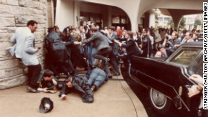 John Hinckley Jr. shot President Reagan, Jim Brady and two others outside the Washington Hilton Hotel in 1981.