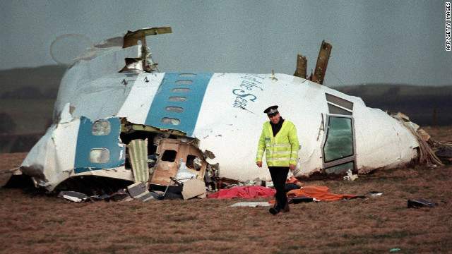 Pan Am Flight 103 exploded over Lockerbie, Scotland, killing all 259 people on board and 11on the ground.