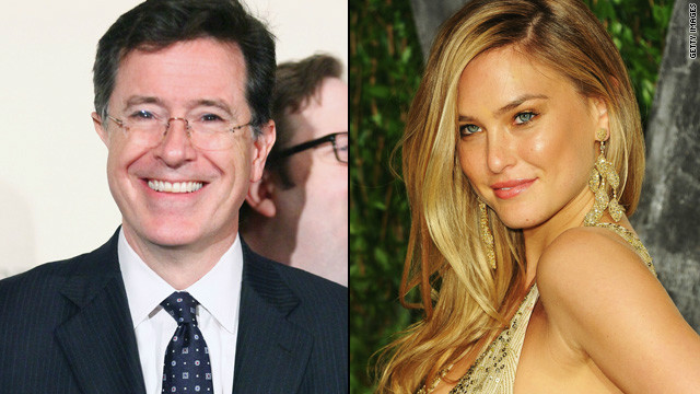 Watch out Bar Refaeli, Colbert's coming for you