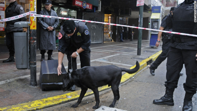 A bomb was defused at a Buenos Aires theater Tuesday, a day before a former Colombian president was set to speak.