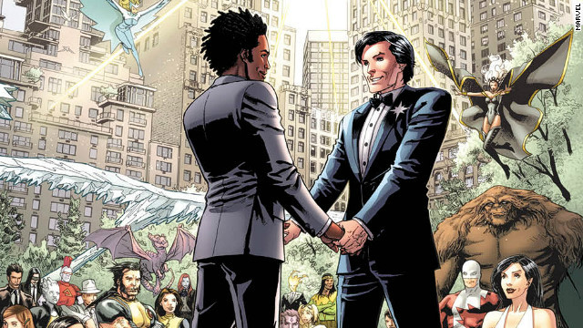 Northstar popped the question in &quot;Astonishing X-Men&quot; #50, and he got married the following month.