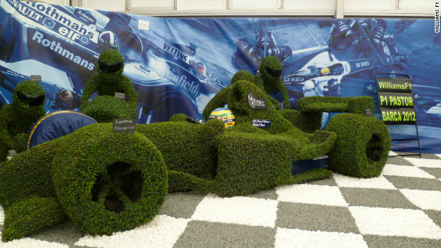 Williams F1 teamed up with the King and Co. tree nursery to produce &quot;The Williams Story&quot; -- a display depicting the history of the nine-time constructors' champions. 