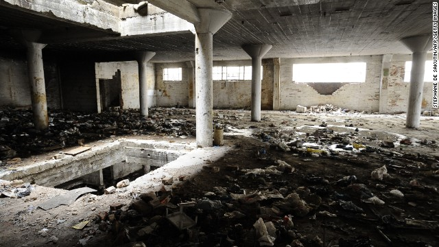 The inside of a derelict building in central Johannesburg. When businesses deserted the city center in the 1990s, squatters took over. The buildings are gradually being reclaimed as companies return.