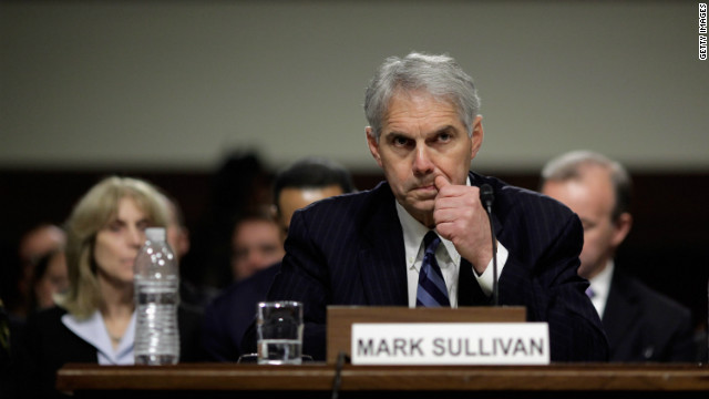 U.S. Secret Service Director Mark Sullivan testifies last year before a Senate panel about the prostitution scandal in Colombia.