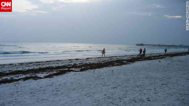 "Clearwater Beach is just one of the many famed beaches surrounding Tampa. ""My wife, Faye, and I go to for relaxation, a dip and a stop at <a href='http://frenchysonline.com/' target='_blank'>Frenchy's on Clearwater</a> for a tropical salad,"" says James Marvell, who shot this photo."