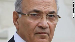 Former Egyptian Prime Minister Ahmed Shafik in Cairo.