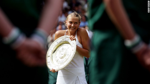 "The Russian became the third youngest female to win Wimbledon in 2004 aged just 17. She beat Serena Williams in the final to spark huge interest the papers labelled ""Maria Mania."""