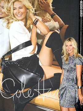 Sharapova's fame has brought endrosements that saw Forbes magazine rate her as the highest-paid female athlete in the world, with annual earnings of over $18 million. She has her own clothing line and is also working on a candy line called Sugarpova.