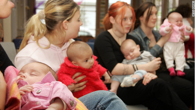 Teen moms attend a program to help them stay in school. Laura Stepp says rural teens have less access to health clinics.