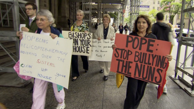 Vatican protesters gather in NYC
