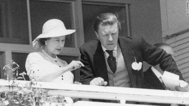 Queen Elizabeth II seen here with stud manager Sir Michael Oswald, watching the Derby in 1980. One of the queen's trainers, Andrew Balding says: &quot;She is a very well informed and keen owner, probably the best-informed owner in the country.&quot;