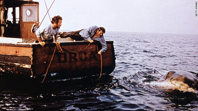 "Steven Spielberg's ""Jaws"" is regarded as the first summer blockbuster. The underwater thriller grossed $260 million domestically and spent 14 weeks at No. 1 after its June 1975 release. It won three Oscars, but lost best picture to ""One Flew Over the Cuckoo's Nest."""