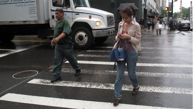 Texting while walking crackdown