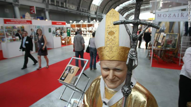 Now in its 13th year, the SacroExpo in Kielce, Poland is one of the world's largest exhibitions of sacred art and religious items, including life-size models of the late Pope John Paul II. The population of Poland is 90% Catholic.